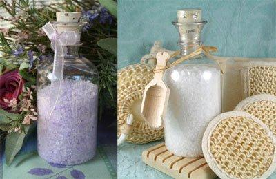 Bath Salts In Clear PVC Apothecary Bottles