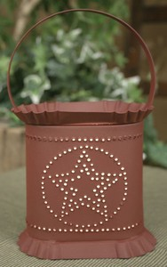 Oval Red Star Tin Punch Electric Wax Tart Warmer