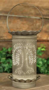 Ash Color Tin Punch Willow Tree Electric Wax Tart Warmer